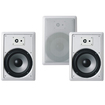 "Acoustic Audio - Acoustic Audio CS-IW830 In Wall 8"" Home 3 Speaker Set 3Way 1050 Watt CS-IW830-3S - White"