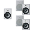 "Acoustic Audio - Acoustic Audio CS-IW830 In Wall 8"" Home 5 Speaker Set 3Way 1750 Watt CS-IW830-5S - White"