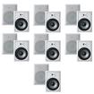 """Acoustic Audio - Acoustic Audio CS-IW830 In Wall 8"""" Speaker 7 Pair Pack 3Way 4900W CS-IW830-7Pr - White"""