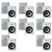 "Acoustic Audio - Acoustic Audio CS-IW830 In Wall 8"" Speaker 8 Pair Pack 3Way 5600W CS-IW830-8Pr - White"