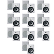 "Acoustic Audio - Acoustic Audio CS-IW830 In Wall 8"" Speaker 10 Pair Pack 3Way 7000W CS-IW830-10Pr - White"