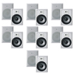 "Acoustic Audio - Acoustic Audio CS-IW820 In Wall 8"" Speakers 7 Pair Pack 2Way 4200W CS-IW820-7Pr - White"