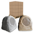 Acoustic Audio - Acoustic Audio RS6 Brown & Grey Rock Speakers 198 Pcs PALLET SALE!! RS6GGSB-PLT2