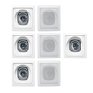 Acoustic Audio - Acoustic Audio CS-I42S In Wall / Ceiling 7 Speaker Set Home 1050Watts CS-I42S-7S - White