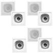 Acoustic Audio - Acoustic Audio CS-I43S In Wall / Ceiling 3 Way 7 Speaker Set 1400W CS-I43S-7S - White