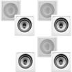 "Acoustic Audio - Acoustic Audio CS-I62S In Wall Ceiling 6.5"" Home 7 Speaker Set 1750W CS-I62S-7S - White"