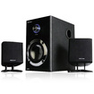 Acoustic Audio - Acoustic Audio AA3009 200W 2.1 Powered Speaker System & 25' Ext Cables AA3009-2 - Black
