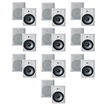 "Acoustic Audio - Acoustic Audio CS-IW630 In Wall 6.5"" Speakers 3Way 6000W 10 Pr Pak CS-IW630-10Pr - White"