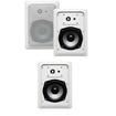 Acoustic Audio - Acoustic Audio CS-IW530 In Wall Speakers 3 Way 750W 3 Speaker Set CS-IW530-3S - White