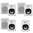 Acoustic Audio - Acoustic Audio CS-IW530 In Wall Speakers 3 Way 1750W 7 Speaker Set CS-IW530-7S - White