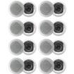Acoustic Audio - Acoustic Audio CS-IC43 In Ceiling Speakers 3 Way 3200W 8 Pair Pack CS-IC43-8Pr - White
