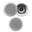 Acoustic Audio - Acoustic Audio CS-IC53 In Ceiling Speakers 3 Way 750W 3 Speaker Set CS-IC53-3S - White