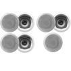 Acoustic Audio - Acoustic Audio CS-IC53 In Ceiling Speakers 3 Way 1750W 7 Speaker Set CS-IC53-7S - White