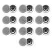 Acoustic Audio - Acoustic Audio CS-IC53 In Ceiling Speakers 3 Way 5000W 10 Pair Pack CS-IC53-10Pr - White