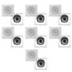 Acoustic Audio - Acoustic Audio CS-I52S In Wall In Ceiling Speakers 2800W 7 Pair Pack CS-I52S-7Pr - White