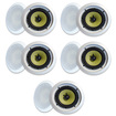 "MA Audio - MA Audio Synergy Series 65iC In Ceiling 6.5"" Speakers 1500W 5 Pair Pack 65iC-5Pr - White"