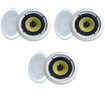 "MA Audio - MA Audio Synergy Series 80iC In Ceiling 8"" Speakers 1020W 3 Pair Pack 80iC-3Pr - White"