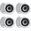 "Acoustic Audio - Acoustic Audio iC6 In Ceiling 6.5"" Speakers Home 1280 Watts 4 Pair Pack iC6-4Pr - White"