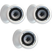 """Acoustic Audio - Acoustic Audio iC8 In Ceiling 8"""" Speakers Home Theater 1080W 3 Pair Pack iC8-3Pr - White"""