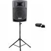 Podium Pro - Podium Pro PP806A Battery Powered Speaker Bluetooth MP3 400W Stand PP806A1SET1B - Black