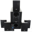 Acoustic Audio - Acoustic Audio AA5150 Home Theater 5.1 Speaker System 400W with Powered Sub - Black