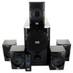 Acoustic Audio - Acoustic Audio AA5160 Home Theater 5.1 Speaker System 500W with Powered Sub - Black