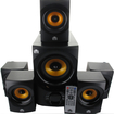 Acoustic Audio - Acoustic Audio AA5170 Home Theater 5.1 Bluetooth Speaker System 700W Powered Sub - Black