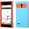 BasAcc - Wallet Case Cover for LG P769 Optimus L9 - Baby Blue, Orange - Baby Blue, Orange