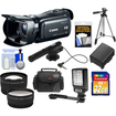 Canon - Vixia HFG20 32GB Flash Memory HD Cam+32GB+Batt.+Case+Microphone+LED Light+Tripod+Tele+Wide Lens Kit