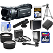 Canon - HF G20 32GB Flash Memory HD Cam+64GB Crd+Batt+Case+Microphone+LED Light+Tripod+Tele/Wide Lens Kit