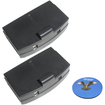 HQRP - 2 Pack Battery for Sennheiser RI 250 / RI 250J / RI 250S Headphones + Coaster