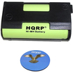 HQRP - Battery for Sennheiser SKP 100 G3 / G3-A Headphones Receiver Transmitter + Coaster