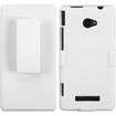 Insten - Rubberized Hybrid Holster for HTC Windows Phone 8X - Ivory White