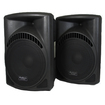 Podium Pro - New Pro Audio SD Card Powered Speaker Pair w/ Bluetooth PP1504CDB - Black