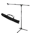 Podium Pro - Adjustable Steel Microphone Stands, Booms, Clips & Bags 4 Stand Set MS2SET10-4S - Black