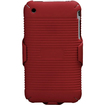 Insten - Rubberized Hybrid Holster for iPhone® 3G/3GS - Red
