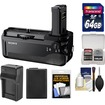 Sony - VG-C1EM Vertical Battery Grip for Alpha A7+A7R Camera with 64GB Card+Battery+Charger+Accessory Kit