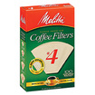 Melitta - No. 4 Cone Coffee Filter - Natural Brown