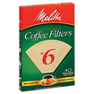 Melitta - No. 6 Cone Coffee Filter - Natural Brown