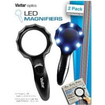 Vivitar - 2X / 2.5X / 3X Magnifying Glass With 6 LED Lights