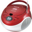 Naxa - Portable MP3/CD Player with AM/FM Stereo Radio - Red - Red