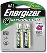 Energizer - NiMH Rechargeable Batteries AA (2-Pack)