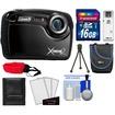 Coleman - Xtreme2 C12WP Shock+Waterproof Digital Camera w/HD Video Black w/16GB Card+Case+Tripod+Acc Kit