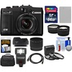 Canon - PowerShot G16 Wi-Fi Digital Camera Black w/64GB crd+Case+Flash+Batt+Tele/Wide Lenses+Filter+Acc Kit