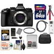 Olympus - OM-D E-M1 Micro 4/3 Digital Cam Body Black+64GB crd+Case+Batt+Charger+Tripod+HDMI Cable+Filter Kit