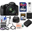 Panasonic - Lumix DMC-FZ70 Digital Camera Black w/64GB Card+Battery+Case+3 Filters+Tripod+HDMI Cable+Acc Kit