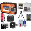 Coleman - Duo2V7WP Dual Screen Shock+Waterproof Cam Orange+16GB+Reader+Batt+Charger+Case+Float Strap+Acc Kit