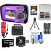 Coleman - Duo2V7WP Dual Screen Shock+Waterproof Cam Purple+16GB+Reader+Batt+Charger+Case+Float Strap+Acc Kit