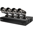 Swann - DVR8-1000 8-Channel D1 Digital Video Recorder & 4 x PRO-530 Cameras - Black