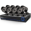 Swann - DVR8-3200 8-Channel 960H Digital Video Recorder & 8 x PRO-642 Cameras - Black